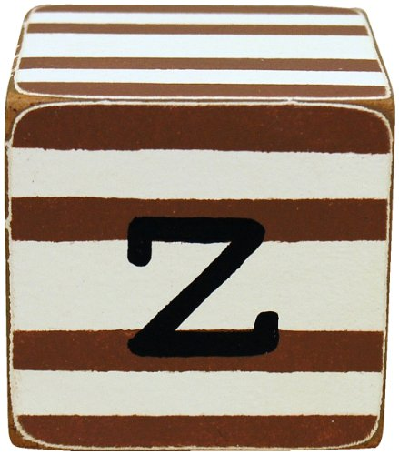 New Arrivals Letter Block Z, Chocolate/White