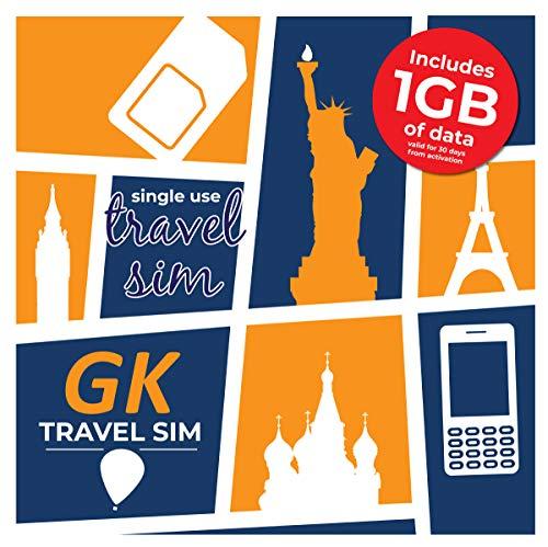GK Travel SIM - Prepaid Travel Data SIM Card (1GB)