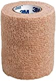 3M Coban Self- Adherent Wrap, 3''x 5yds, Box of 24 Rolls, Tan