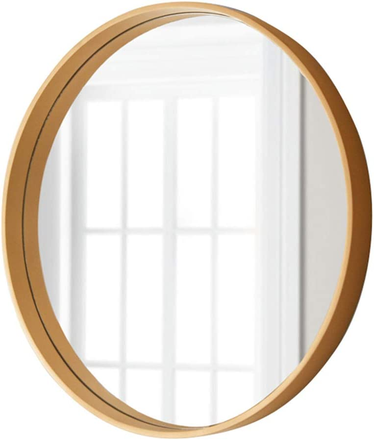 Xjhome Mirrors 20 30 Clean Large Modern Wall Mirror With Wood Circle Frame Contemporary Premium Silver Backed Floating Round Glass Panel Vanity Bedroom Or Bathroom Amazon Co Uk Kitchen Home