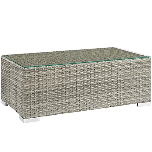 Modway EEI-2691-LGR Outdoor Patio Coffee Table, Light Gray