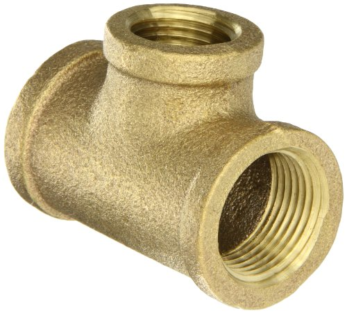 (Anderson Metals 38106 Red Brass Pipe Fitting, Reducing Tee, 3/4