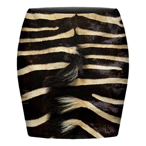 Funny Skirts Company© Impreso Faldas 3d Imprimir/Motivo/Diseño Un Tamaño De Unisex Primavera De Verano 2017 (ZEBRA FUR 30342)