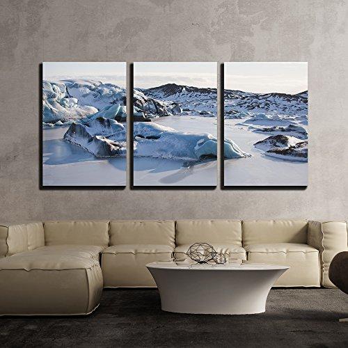 Glacier Landscape with Snow x3 Panels