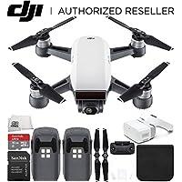 DJI Spark Portable Mini Drone Quadcopter + DJI Goggles Virtual Reality VR FPV POV Experience Essential Bundle (Alpine White)