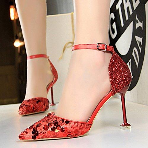DS923 5 Escarpins Femme pour MiyooparkUK EU 15 36 Rouge Miyoopark Red Hz6x5qA