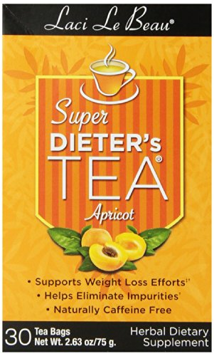 Super Dieters Apricot (Laci Le Beau Super Dieter's Tea, Apricot, 30 Count Box (Pack of 4))