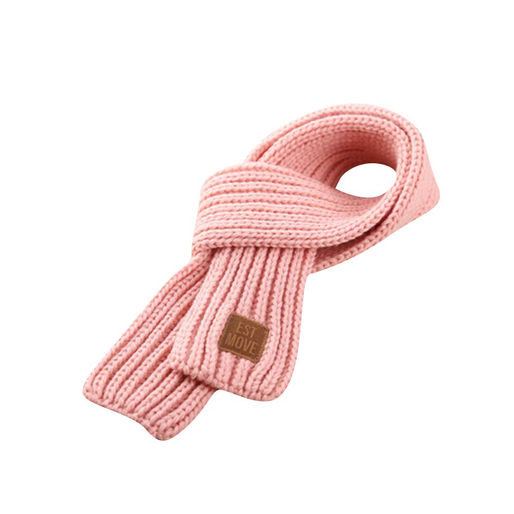 H.S.D Knitted Warm Wool Scarves Collar Fashion Scarf Toddlers Kids Boys Girls Winter