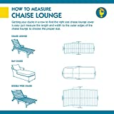 """Duck Covers Ultimate Patio Chaise Lounge Cover, Fits Outdoor Patio Chaise Lounge Chairs 80"""" Long"""