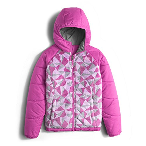 The North Face Reversible Perseus Jacket Girls' Wisteria Purple Triangle Camo Large by The North Face