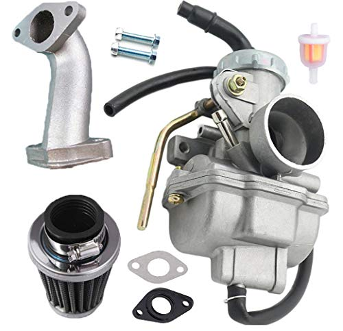 - PZ20 Carburetor Carb for Kazuma Baja 50cc 70cc 90cc 110cc 125cc TaoTao 110B NST SunL Chinese Quad 4 stroke ATV 4 wheeler Go kart Dirt Bike Honda CRF50F XL75 CRF80F XR50R with Air Fuel Filter