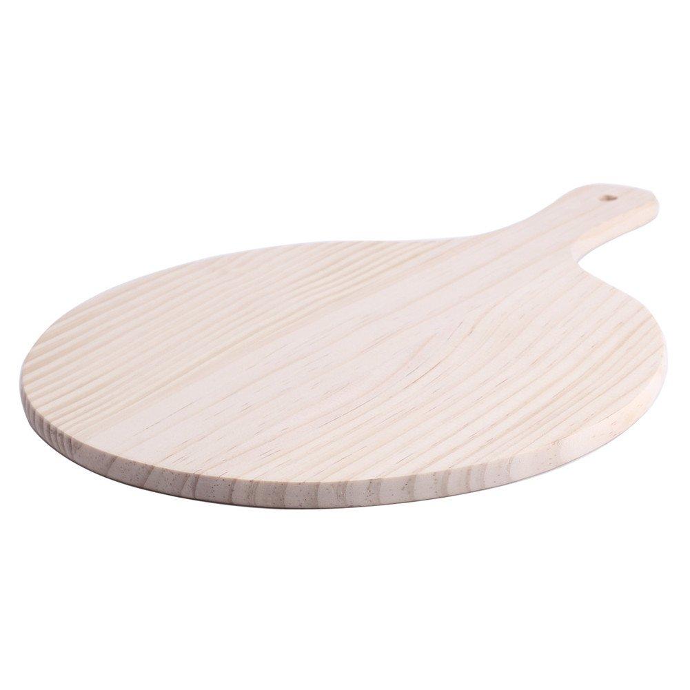 Premium Poplar Wood Pizza Peel Cutting Board Merssavo