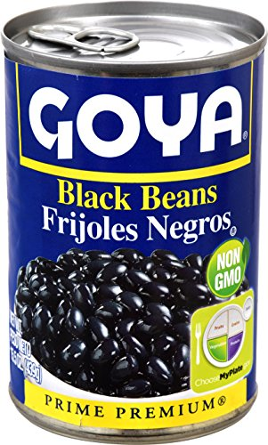 Goya Refried Beans - Goya Foods Black Beans, 15.5-Ounce (Pack of 24)