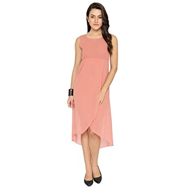 1aa1340675 Chimpaaanzee Women Light Pink Long Dress  Amazon.in  Clothing   Accessories