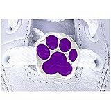Purple Paw Print 2-piece Shoe Charm Set