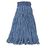Rubbermaid Commercial Products E238 24 oz. Universal Looped-End Blend Blue Headband Mop Head