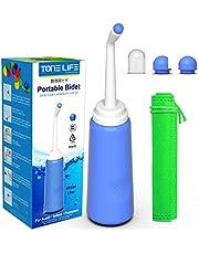 TONELIFE Resebidé - 500 ml bärbar bidet spray-duschflaska för postpartum perineal vård-hemmoroid behandling -rengöring för mamma efter födseln -sanitär färskvattenren- handbidé för resor