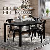 black dining room table DHP DZ98794 Joana Rectangular, Black Dining Table