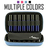 (US) Aroma Outfitters Essential Oil Carrying Case. Premium Storage Protection & Organizer for Roller Bottles. Carry Case Protects up to 14 Roller Balls and Sample Drams - Perfect for Travel (Blue)