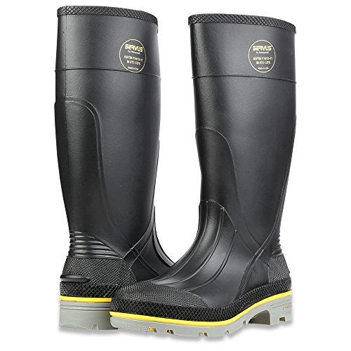 Honeywell Safety 75109-10 Servus XTP Chemical Resistant Men's Safety Hi Boot, Size-10, Black/Yellow/Grey - Image 6