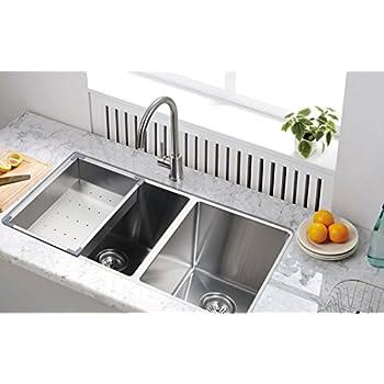 Starstar Undermount 304 Stainless Steel Double Bowl Kitchen Sink ...