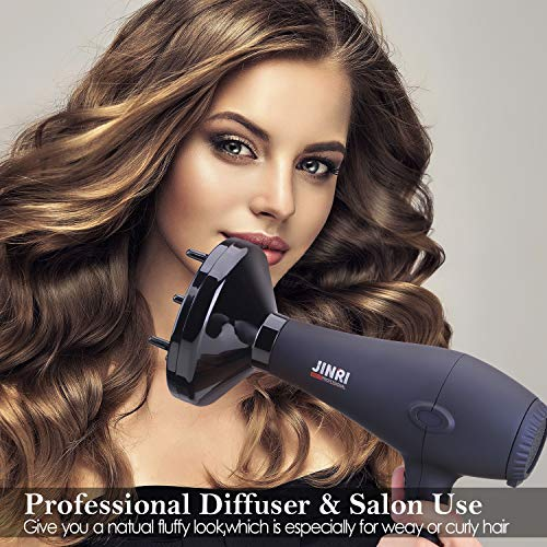 JINRI 1875W Professional Salon Grade Hair DryerDC Motor Negative Ionic Blow Dryer with 2 Speed 3
