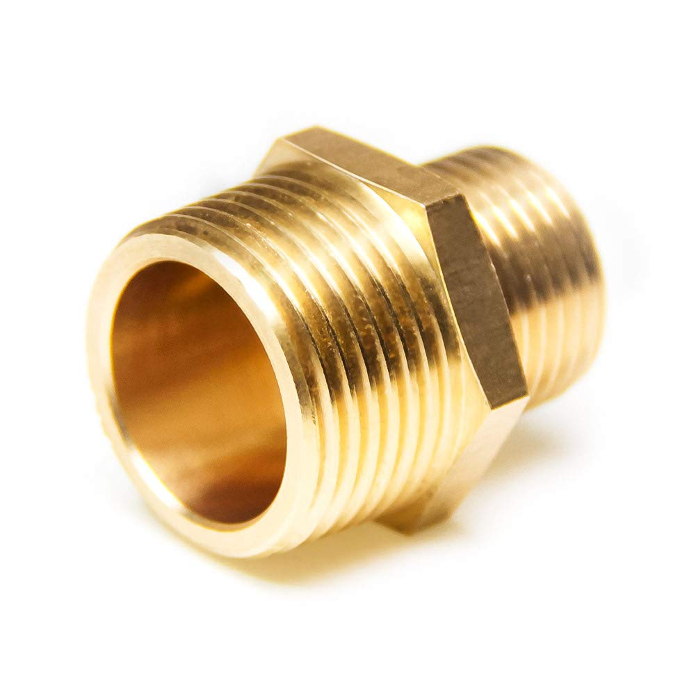 Pack of 2 Joywayus 1//2 G Thread Male /× 3//4 NPT Thread Male Brass Pipe Fitting Adapter