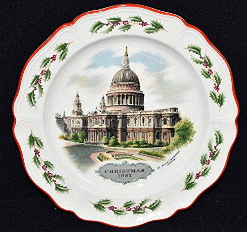 Wedgwood Queens Ware Christmas Plate - ST. Paul's Cathedral c1983