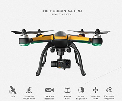 Hubsan H109S X4 PRO Quadcopter FPV 3 Axis Gimbal 1080p FHD Camera GPS Altitude Hold Drone (Middle Edition)