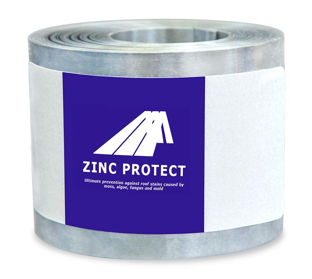 Zinc Protect - Roof Strip for Moss and Mildew Prevention, 2.5'' Wide and 50' Long Zinc Strip by Zinc Protect