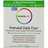 Rainbow Light - Prenatal Daily Duo, Prenatal One and Prenatal DHA Support a Healthy Pregnancy, Brain and Eye Development with Choline and Omega-3s DHA and EPA, Gluten-Free, Dairy-Free, 1 Month Supply