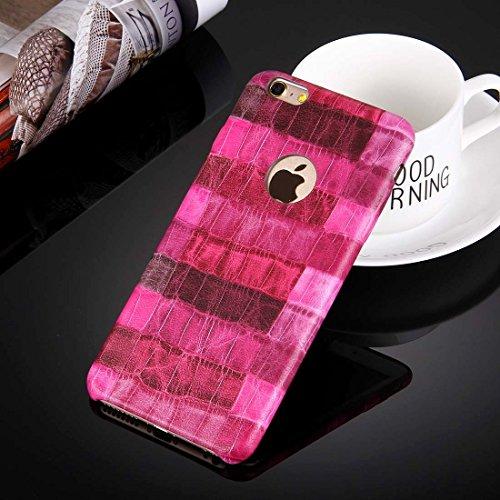 Phone Taschen & Schalen Für iPhone 6 Plus & 6s Plus Heuschrecke Paste Haut Muster Schutzmaßnahmen PU Leder Tasche ( Color : Magenta )