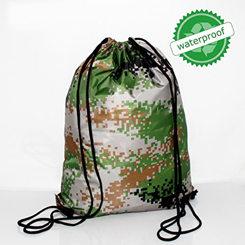 BAGHOME Waterproof Polyester Camo Drawstring Backpack Bag High Qualit