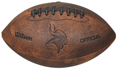 - NFL Minnesota Vikings Vintage Throwback Football, 9-Inches