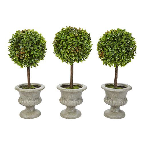 (Pure Garden Faux Boxwood– 3 Matching Realistic 12.5