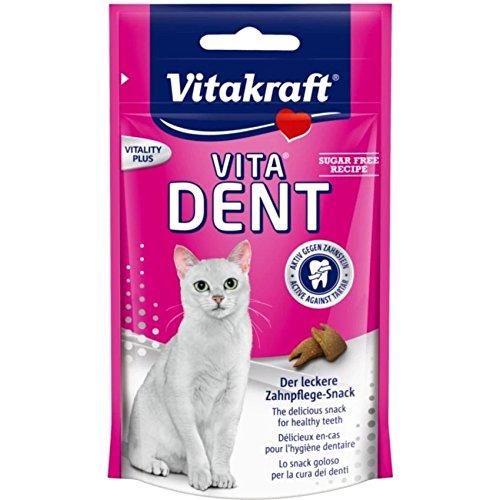 Vitakraft Vita Dent, Cat Snack for healthy teeth (75 g. x 2 Packs.)