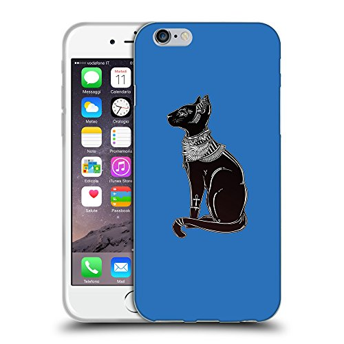 "GoGoMobile Coque de Protection TPU Silicone Case pour // Q08090608 Goddess Bastet 1 Azur // Apple iPhone 6 4.7"""