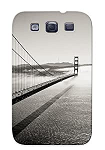 High-quality Durable Protection Case For Galaxy S3(golden Gate Bridge Monochrome )