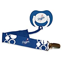 Baby Fanatic Pacifier with Clip - Los Angeles Dodgers