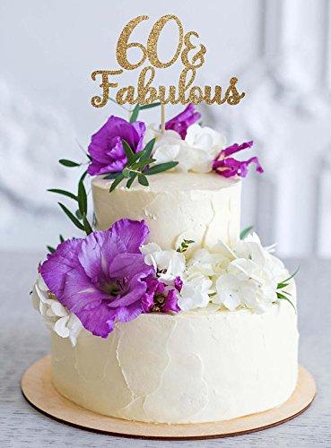 Decoración para tarta de 60 cumpleaños, decoración para 60 ...