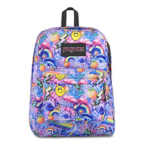 JanSport Black Label Superbreak Backpack - Lightweight School Bag | Rainbow - Rainbow Brite Backpack