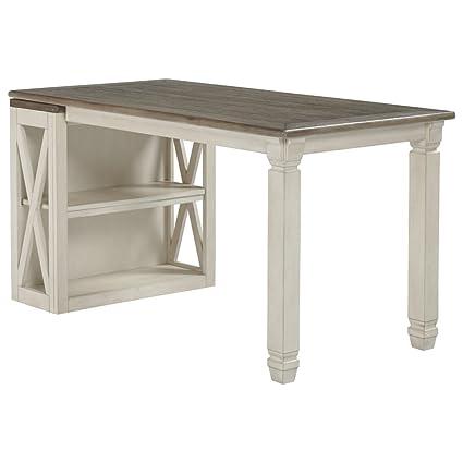 Amazon Com Ashley Furniture Signature Design Bolanburg Half Desk