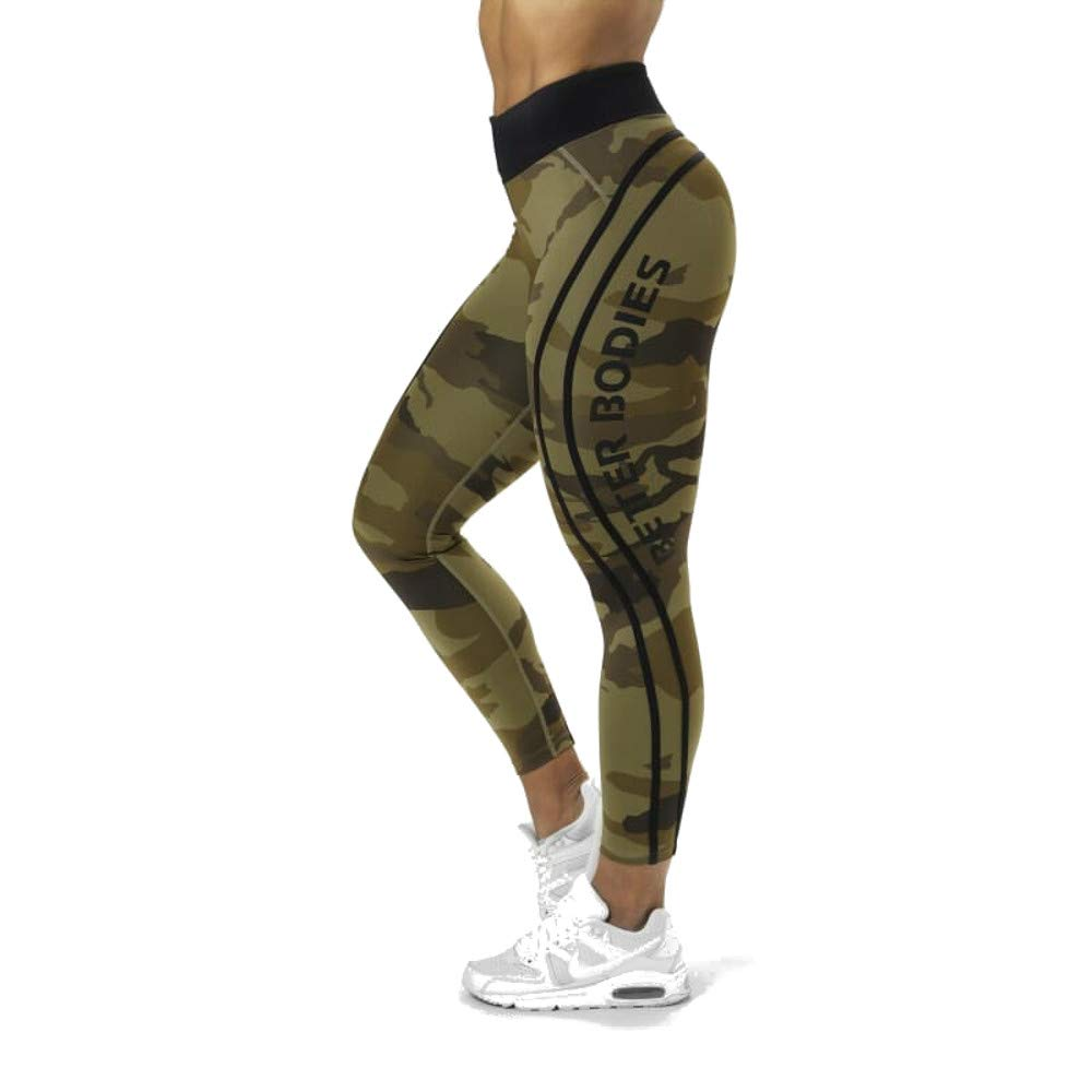 ab8861193e8bb1 Better Bodies High Waist Camo Athletic Tights Leggings at Amazon Women's  Clothing store: