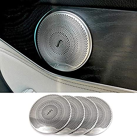 in acciaio INOX 4 pezzi Copri altoparlante per auto E//C//GLC classe W213 W205