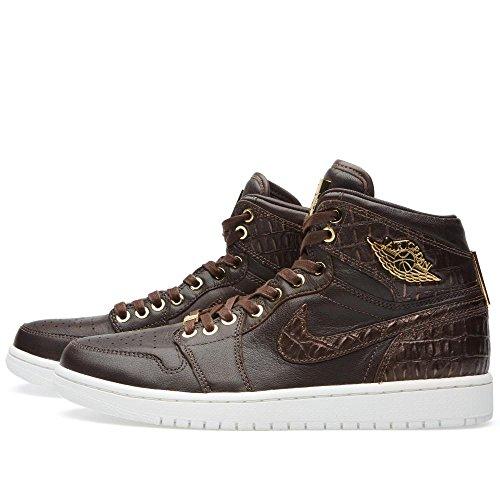 Nike Hommes Air Jordan 1 Pinnacle Croc Baroque Marron / Métallique Or-métallique Sommet En Cuir Taille