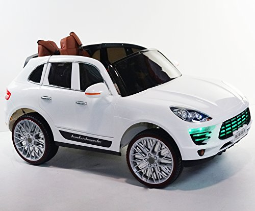 incredible porsche cayenne style 12v battery operated ride on car for kids with remote control white