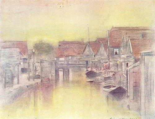 NETHERLANDS. Holland. Edam, Holland - 1920 - old print - antique print - vintage print - Netherlands art prints