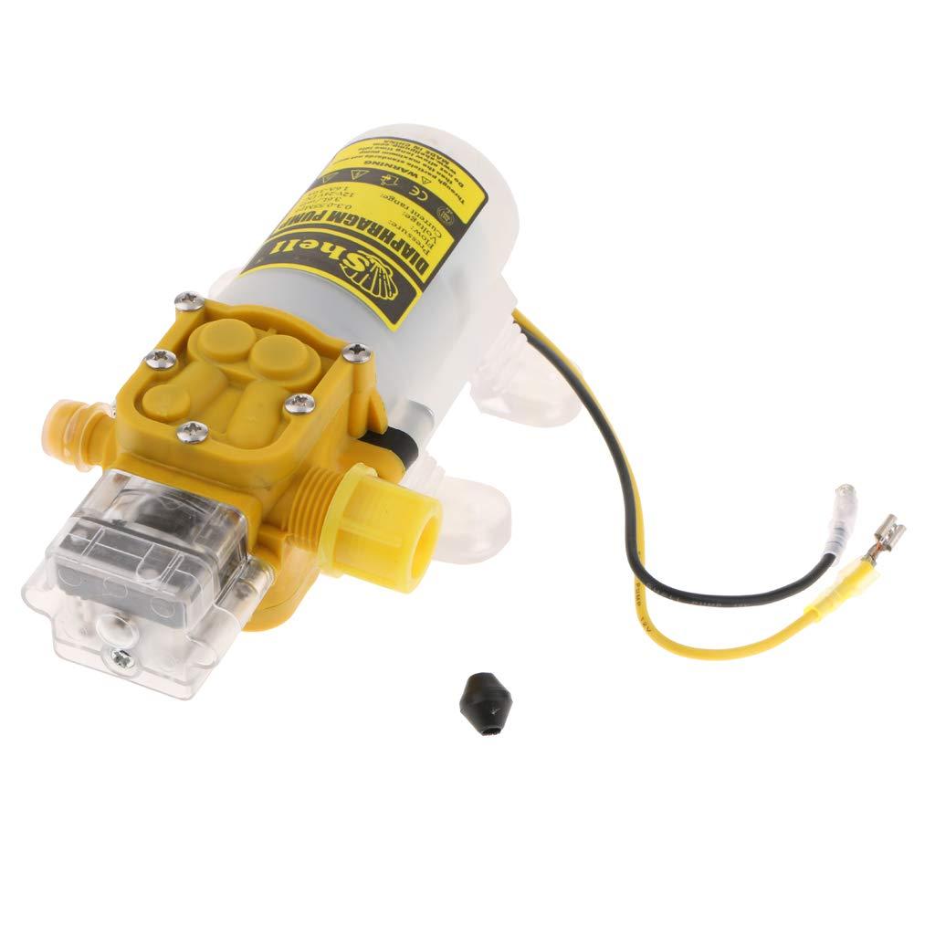 Homyl DC 24V 75 PSI High Pressure Agricultural Diaphragm Water Pressure Sprayer Pump 2.5L/Min Yellow