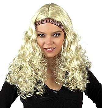 Peluca Hippie Rubia, Mujer