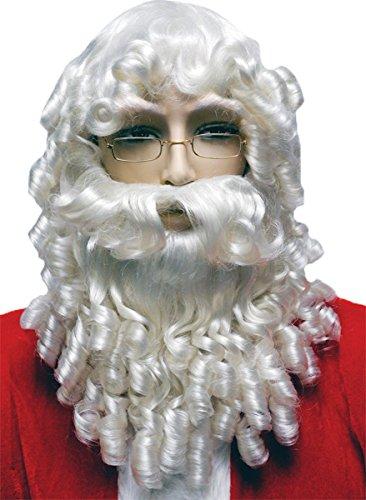 Morris Costumes Santa Set Curly White